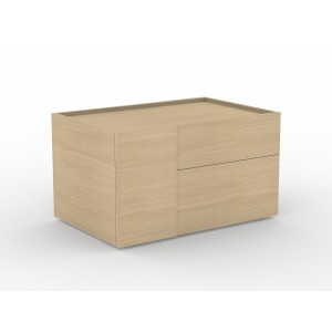 Plana Pedestal w/Pull-out Drawer & 2 Drawers
