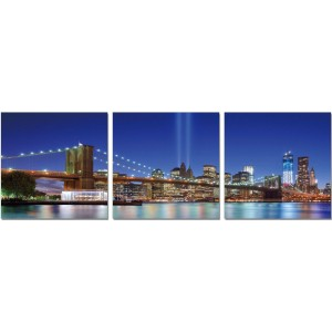 Premium Acrylic 3-Piece Wall Art Brooklyn Bridge-SH-71181ABC by J&M Furniture