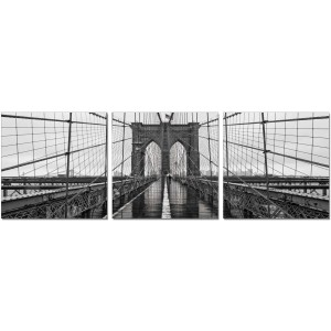 Premium Acrylic 3-Piece Wall Art Brooklyn Bridge Classic-SH-71438ABC by J&M Furniture
