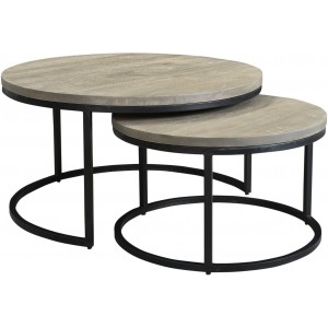 Drey Round Nesting Coffee Tables, Set Of Two