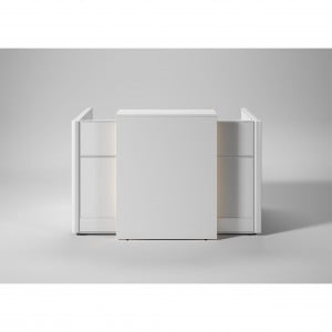 "Flex 63"" Straight Reception Desk with Light Panel"