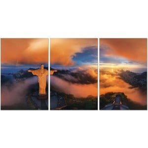 Premium Acrylic 3-Piece Wall Art Christ The Redeemer-SH-72328ABC