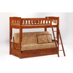 Cinnamon Wood Bunk/Futon Bed