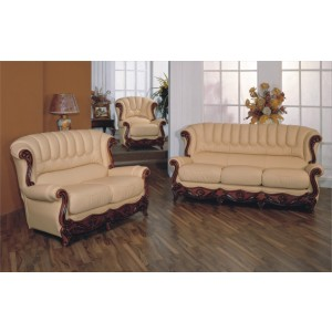 A51 Half Leather Living Room Set by ESF Furniture