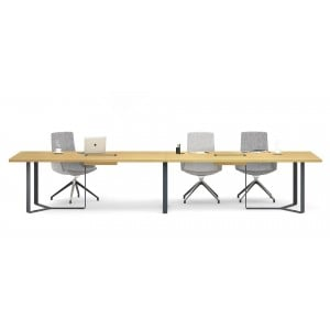 Plana Meeting Table for 14 Persons w/2 Grommets & Boxes for Power Socket