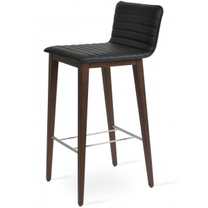 Corona Wood Full Upholstery Bar Stool