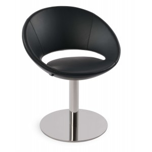 Crescent Round Swivel Dining Chair