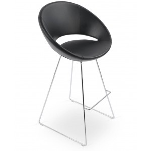 Crescent Wire Bar Stool