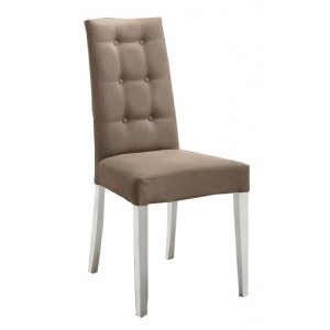 Dama Bianca Eco-Leather Dining Chair by Camelgroup, Italy