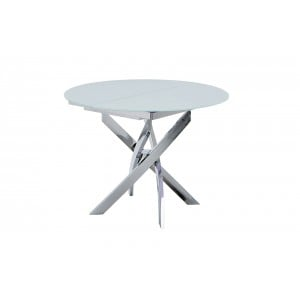 2303 Modern RoundGlass Extendable Dining Table by ESF Furniture