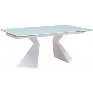 992 Modern Rectangular Glass Extendable Dining Table by ESF Furniture