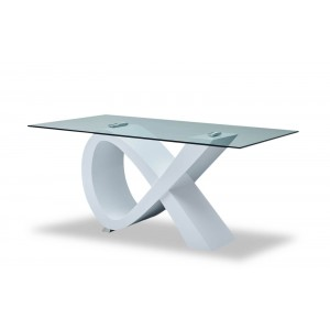 989 Modern Rectangular Glass Dining Table by ESF Furniture