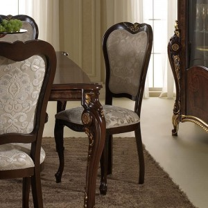Donatello Classic Fabric Dining Chair by ESF Furniture