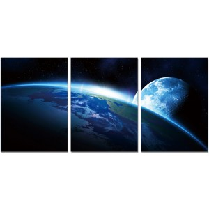 Premium Acrylic 3-Piece Wall Art Earth-SH-71880ABC by J&M Furniture
