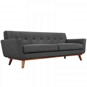 Engage Upholstered Sofa, Gray by Modway Furniture