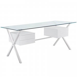 Abeyance Office Desk, White by Modway Furniture