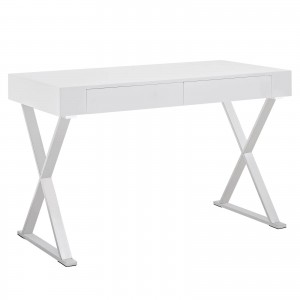 Sector Office Desk, White by Modway Furniture