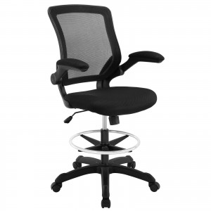 Veer Drafting Stool, Black by Modway Furniture