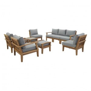 Marina 9 Piece Outdoor Patio Teak Set