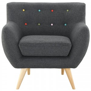 Remark Armchair, Gray by Modway Furniture