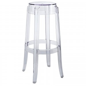 Casper Bar Stool, Clear by Modway Furniture