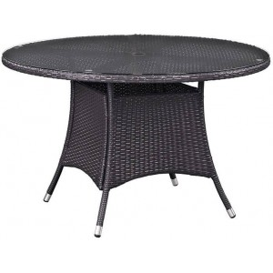 "Convene 59"" Round Outdoor Patio Dining Table"