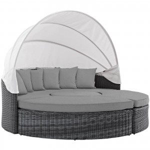 Summon Canopy Outdoor Patio Sunbrella Daybed