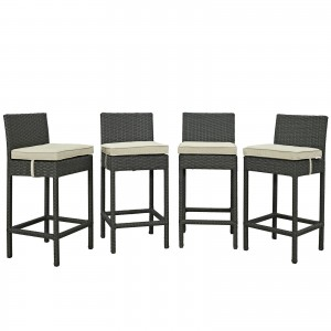 Sojourn 4 Piece Outdoor Patio Sunbrella Pub Set