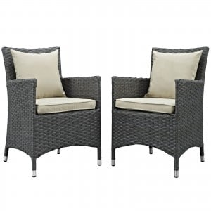Sojourn 2 Piece Outdoor Patio Sunbrella Dining Set