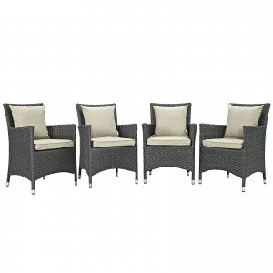Sojourn 4 Piece Outdoor Patio Sunbrella Dining Set