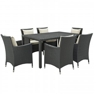 Sojourn 7 Piece Outdoor Patio Sunbrella Dining Set