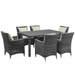 Summon 7 Piece Outdoor Patio Sunbrella Dining Set