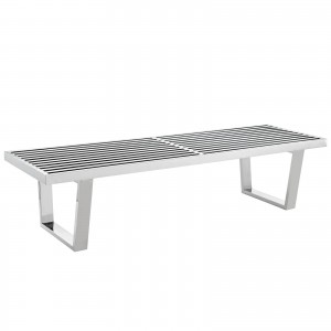Sauna 5' Stainless Steel Bench by Modway Furniture