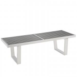 Sauna 4' Stainless Steel Bench by Modway Furniture