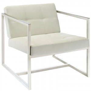 Hover Lounge Chair, White by Modway Furniture