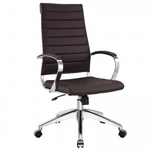 Jive Highback Office Chair, Brown by Modway Furniture