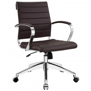 Jive Mid Back Office Chair, Brown by Modway Furniture