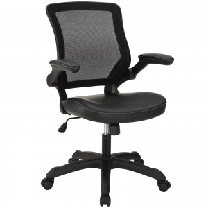 Veer Vinyl Office Chair, Black by Modway Furniture