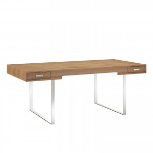 Tinker Office Desk, Natural by Modway Furniture