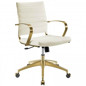 Jive Faux Leather/Stainless Steel Office Chair