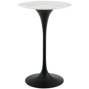 "Lippa 28"" Round Marble Bar Table"