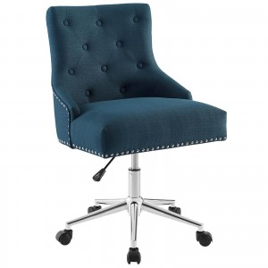 Regent Tufted Button Swivel Fabric Office Chair