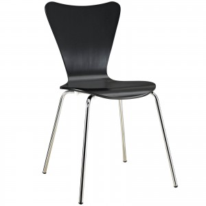 Ernie Dining Side Chair, Black by Modway Furniture