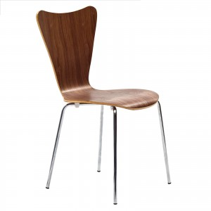 Ernie Dining Side Chair, Walnut by Modway Furniture