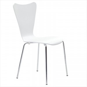 Ernie Dining Side Chair, White by Modway Furniture