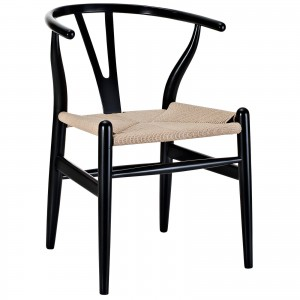 Amish Wood Armchair, Black by Modway Furniture