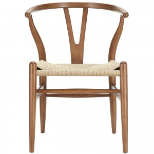 Amish Wood Armchair, Walnut by Modway Furniture