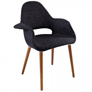 Aegis Dining Armchair, Black by Modway Furniture