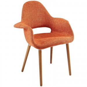 Aegis Dining Armchair, Orange by Modway Furniture