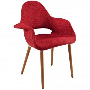 Aegis Dining Armchair, Red by Modway Furniture